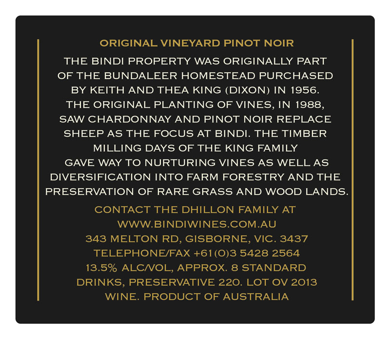 Bindi Original Vineyard Pinot Noir